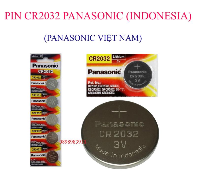 Pin CR2032 3v Lithium PANASONIC vỉ 5 viên