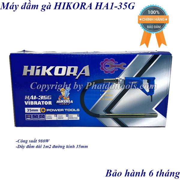 Máy đầm dùi betong cầm tay HIKORA HA1-35G-Công suất 980W-Kèm cả dây đầm 1m2-Bảo hành 6 tháng.