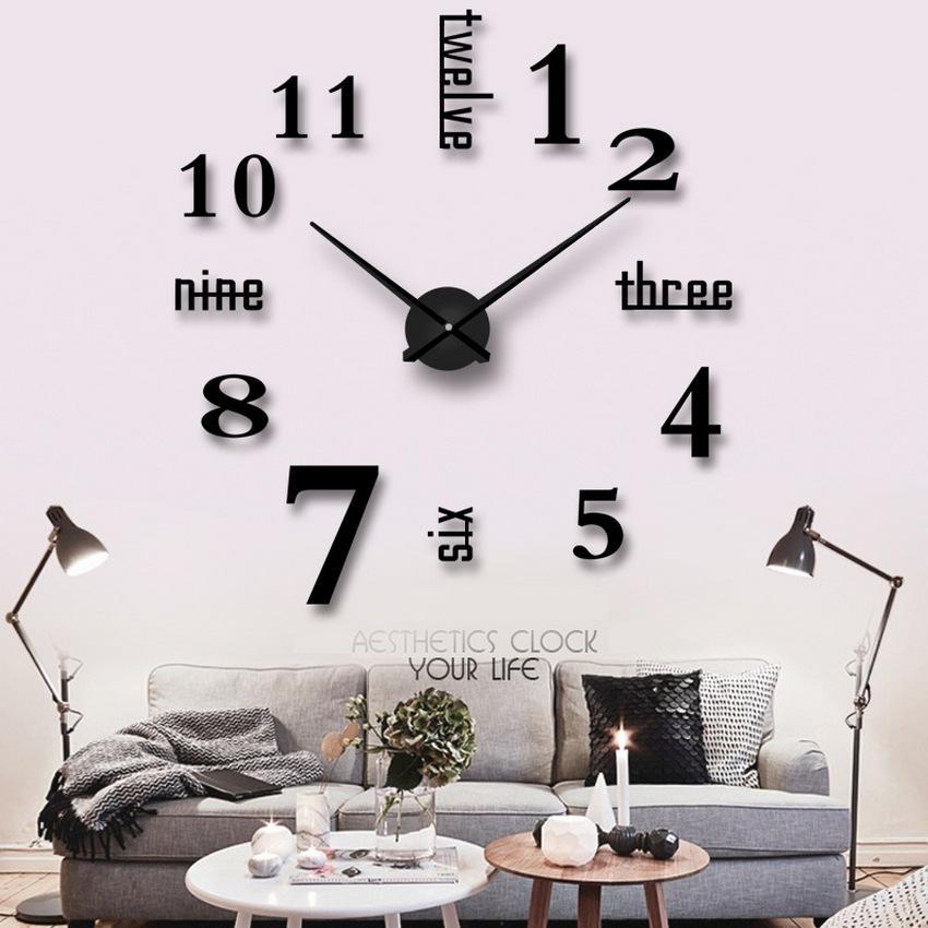 Đồng hồ trang trí treo tường - gắn tường sáng tạo 3D DH01-V Decoshop68 giá tốt