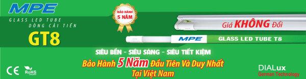 BÓNG ĐÈN LED TUBE THỦY TINH MPE 1M2