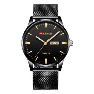 Đồng hồ nam dây thép lụa thời trang sang trọng, phong cách quý ông lịch lãm ARLANCH AR311 Steel - đồng hhoof - đồng hồ nam - đồng hồ nam dây thép lụa - đồng hồ nam thời trang thumbnail