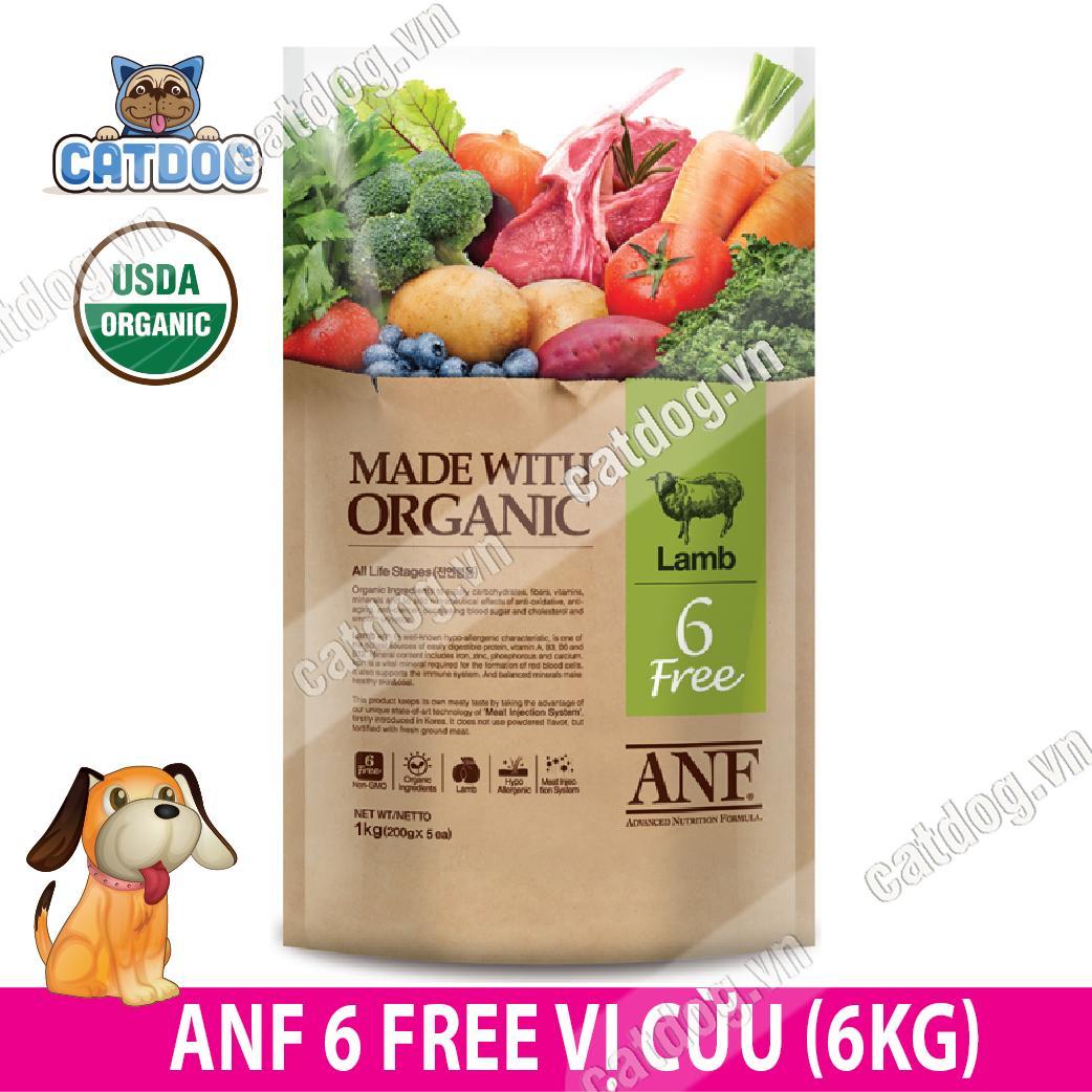 Hạt Anf 6free Organic Vị Cừu 6kg (chó) By Catdog Pet Store.
