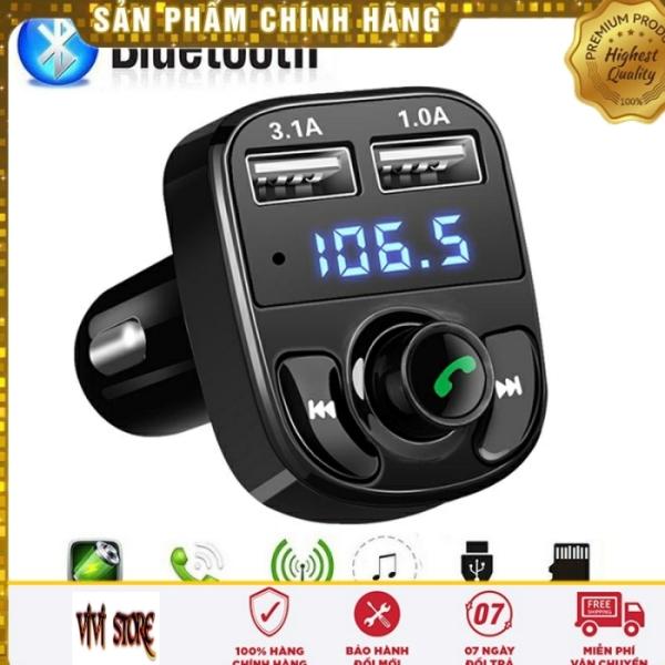Tẩu Nghe Nhạc MP3 Bluetooth Kèm Cổng Sạc USB Trên Xe Ô tô Model X8