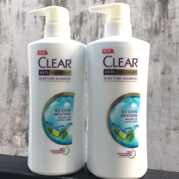 [HCM]Chai dầu gội Clear bạc hà mát lạnh sảng khoái 480ml