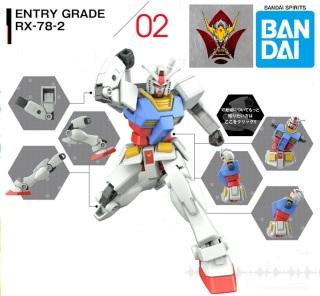 [HCM]Mô Hình Gundam EG RX-78-2 Bandai Entry Grade 1 144 Đồ Chơi Lắp Ráp Anime Nhật thumbnail