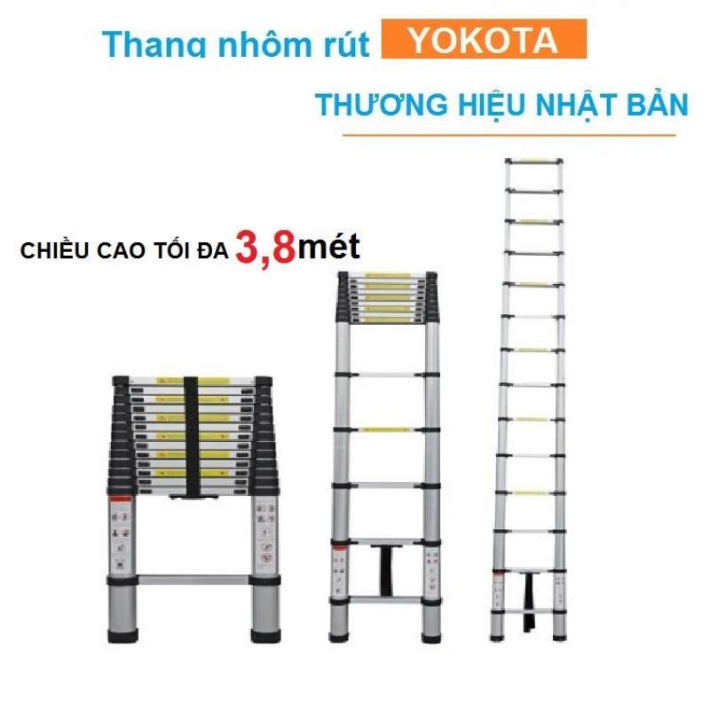 Thang nhôm rút gọn YOKOTA thương hiệu nhật bản 3,8 mét