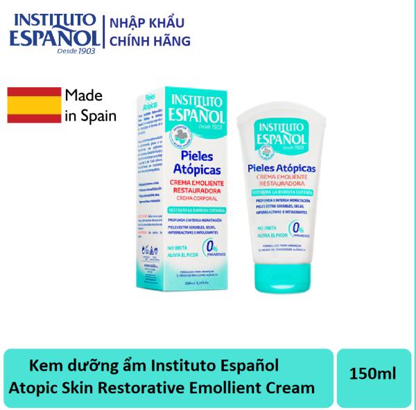 Kem dưỡng ẩm cho da khô và da nhạy cảm Instituto Español Atopic Skin Restorative Emollient Cream 150ml