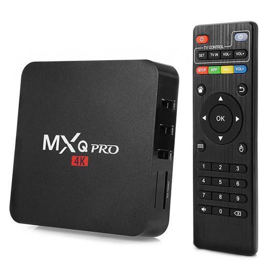 Android Box tivi MXQ Pro 4K ram 2GB-HDD16GB-HĐH 7.1.2 - Biến TV thường thành TV thông minh