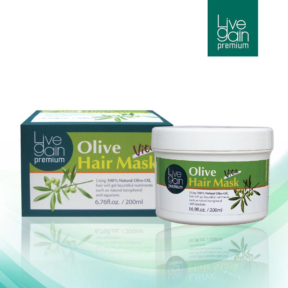 Mặt Nạ Hấp Tóc Livegain Premium Olive Hair Mask Vita 500g Hàn Quốc giá rẻ