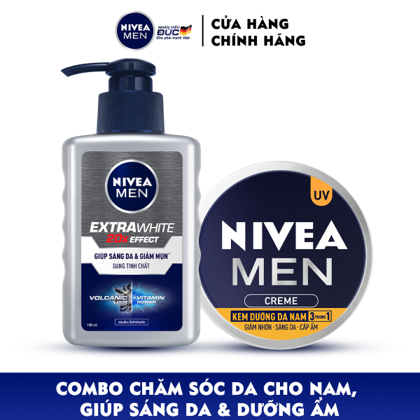 Combo Nivea MEN chăm sóc da cho nam, giúp sáng da & dưỡng ẩm (83923 + 83956) giá rẻ