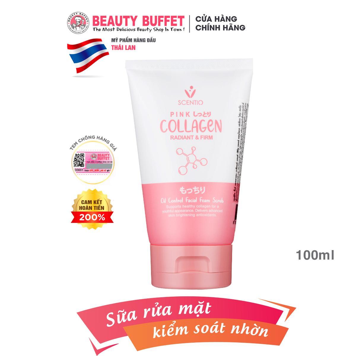 Sữa rửa mặt kiểm soát nhờn Scentio Pink Collagen 100ml cao cấp