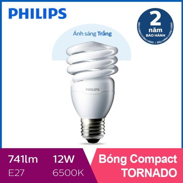 Bóng đèn Compact xoắn tiết kiệm điện Philips Compact Tornado 12W 6500K E27- Ánh sáng trắng
