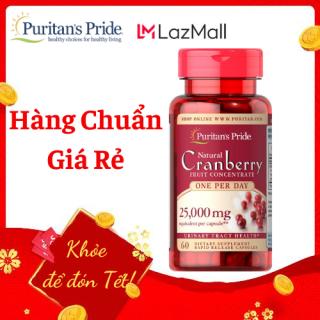 viêm đường tiết niệu, tiểu dắt chống oxy hóa Puritan s Pride Natural Cranberry 60 viên thumbnail