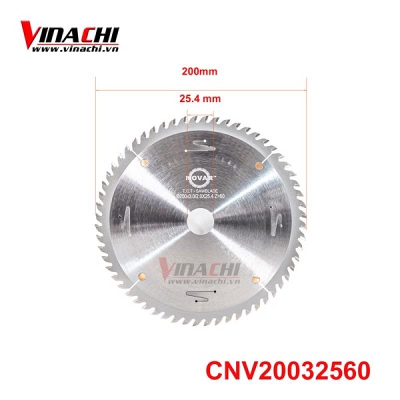 Cưa Novar 200x3x2x25.4x60T
