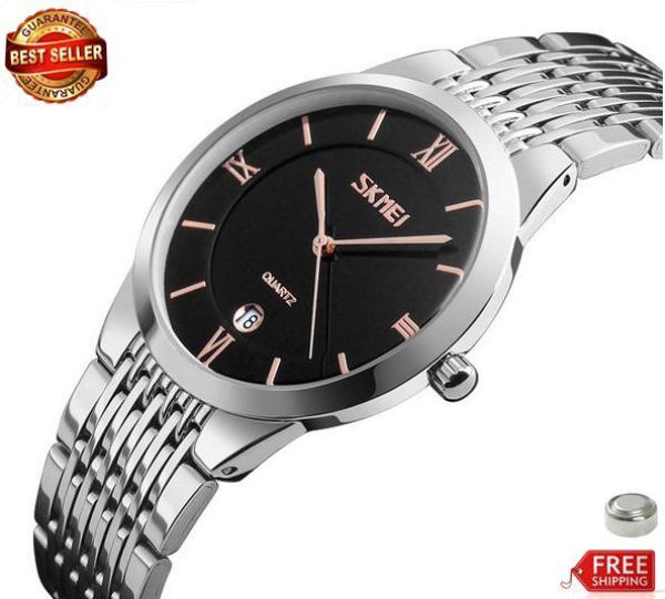 [HCM]Đồng hồ nam Skmei classical dây thép 9139 (bh 12 tháng)