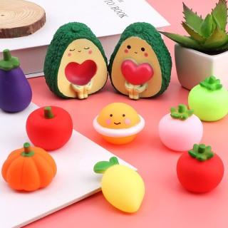 Combo 2 trái cây bóp kêu chíp chíp nhiều màu sắc - Đồ chơi hoa quả bóp kêu vui nhộn thumbnail