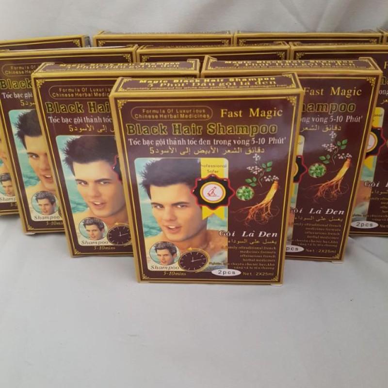 Thuốc nhuộm gội đen Black Hair Shampoo nhập khẩu