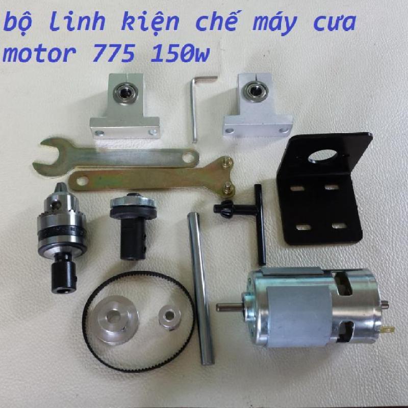Bộ Combo chế máy cưa bàn với motor 775 - 150w