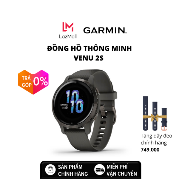 Đồng hồ thông minh GARMIN Venu2S, GPS, Wi-Fi, KOR/SEA - Hàng chính hãng - Bảo hành 12 tháng