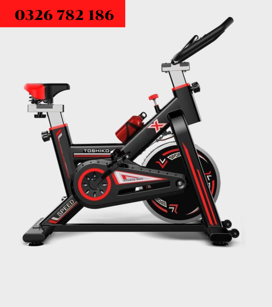 Xe đạp tập thể dục thể thao Toshiko X8 màu đen đỏ