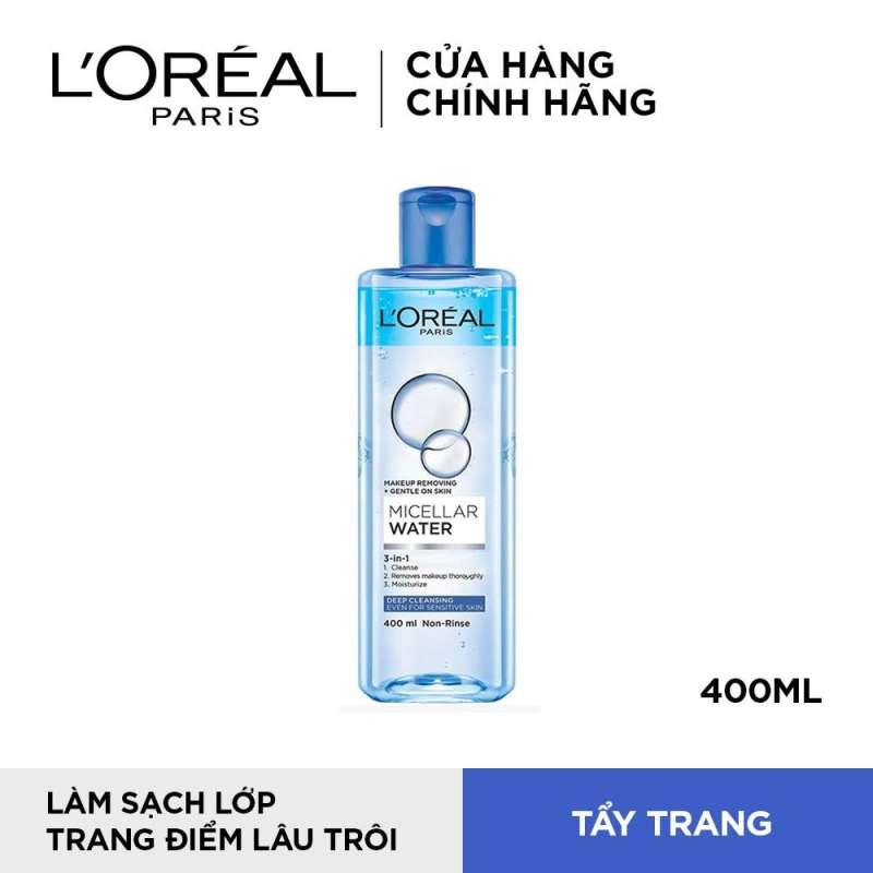 Nước tẩy trang cho mọi loại da LOreal Paris 3-in-1 Micellar Water 400ml (sạch sâu) nhập khẩu
