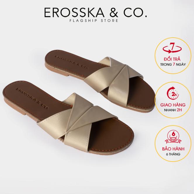 Dép nữ thời trang Erosska quai ngang siêu mềm êm chân DE035 (CU) giá rẻ