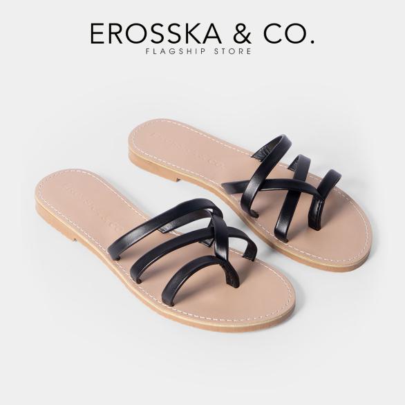 Dép nữ xỏ ngón thời trang Erosska thiết kế phối dây trẻ trung DE031 (WH) giá rẻ