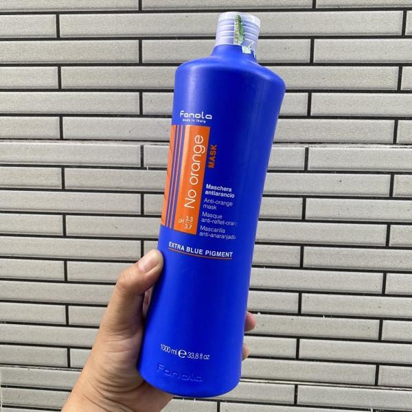 Mặt nạ ủ khử sắc tố cam cho tóc nhuộm màu tone lạnh Fanola Anti-Orange mask (Noorange) 1000ml nhập khẩu