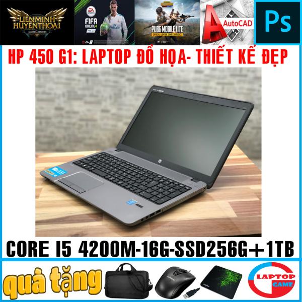 Bảng giá Laptop HP Probook 450 G1 - thiết kế đẹp mạnh mẽ ( i5-4200M ram 16Gssd 256g+  hdd 1TB VGA Intel HD 4600 15.6 inch HD) Phong Vũ