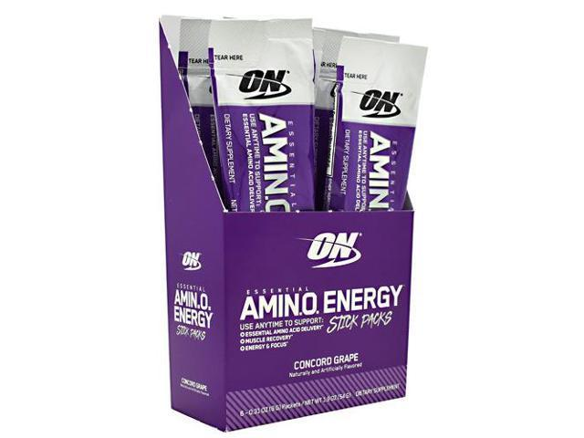 Optimum Nutrition, Essential Amin.O. Energy, Concord Grape, 6 Stick Packets - 01.02.2020