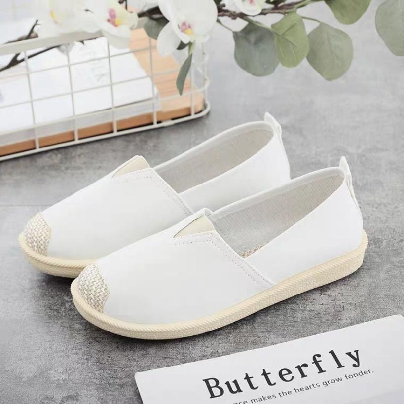 Giày nữ| Giày lười nữ vải cách điệu mũi giày cá tính- Giày slip on - SHG001 giá rẻ