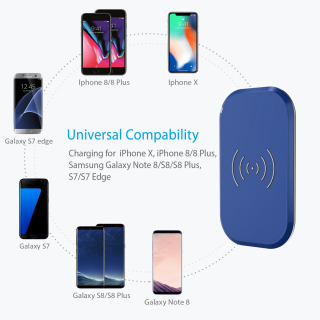 CHOETECH Fast Wireless Charger, 3 Coils Qi Wireless Charging Pad Compatible with Apple iPhone Xs Xs Max Xr X iPhone 8 8 plus, 10W for Galaxy S10 S10+ S9 S9+ S8 S8+, 5W for HUAWEI Mate 20 Pro thumbnail