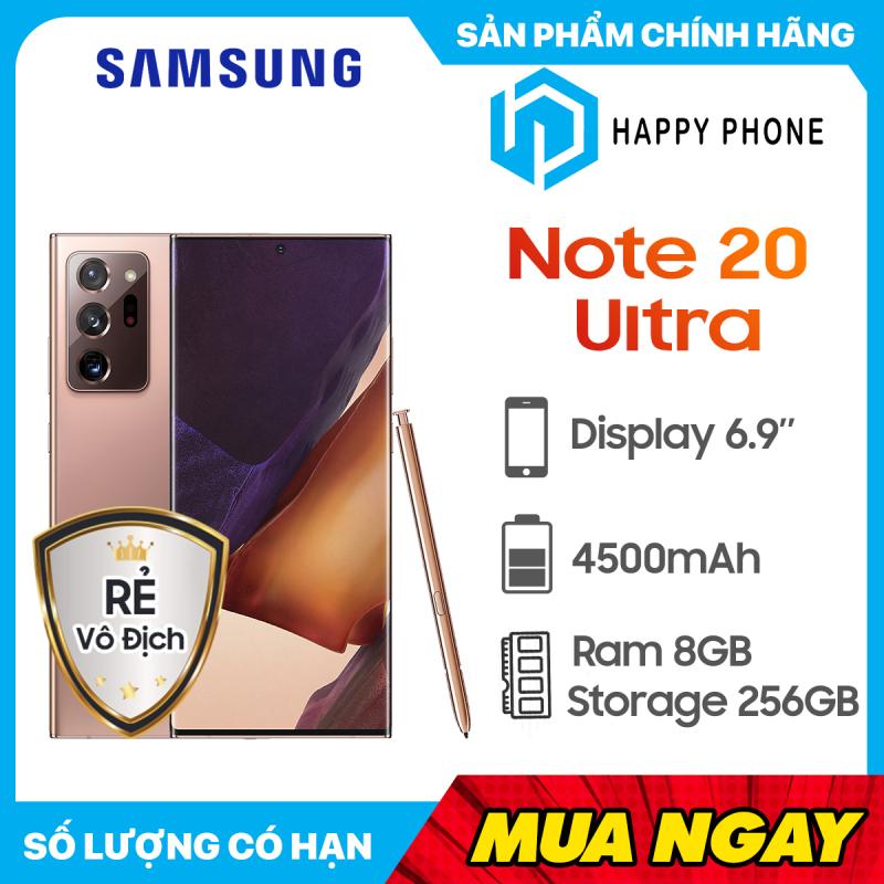 Điện thoại Samsung Galaxy Note 20 Ultra (256GB/8G) - Hàng chính hãng, mới 100%, nguyên seal, bảo hành 12 tháng