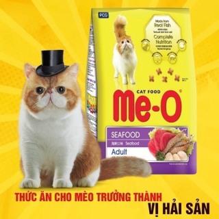 Combo 3 bịch thức ăn Me-O vị hải sản cá ngừ cho mèo trưởng thành cao cấp thumbnail
