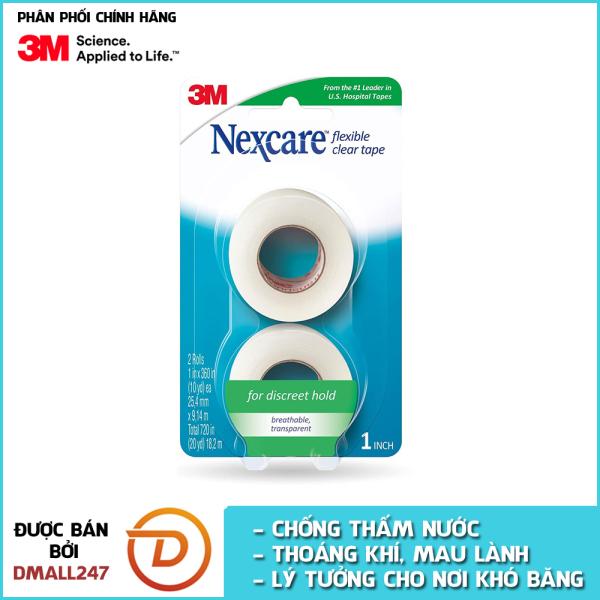 Bộ 2 cuộn băng keo y tế trong suốt cao cấp Nexcare 3M BKYT-771-2PK cao cấp
