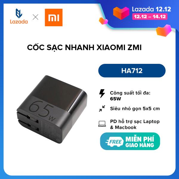[SIÊU SALE 11.11] Cốc sạc nhanh Xiaomi ZMI HA712 l Output PD Type-C 65W (Max) l Hỗ trợ sạc Laptop, Macbook, iPad l Đen l HÀNG CHÍNH HÃNG