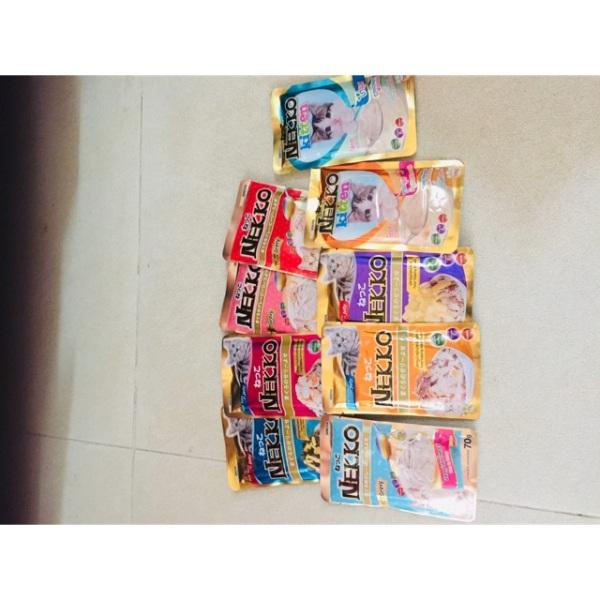 Combo 48 túi đủ vị Pate Nekko cho mèo 70g, chất lượng đảm bảo an toàn đến sức khỏe người sử dụng, cam kết hàng đúng mô tả