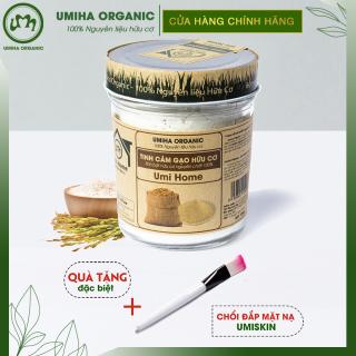BỘT CÁM GẠO HỮU CƠ UMIHOME 125G nguyên chất làm đẹp thiên nhiên giúp tẩy da chết hiệu quả, dùng đắp mặt trắng da tự nhiên và ngăn ngừa thâm mụn thumbnail
