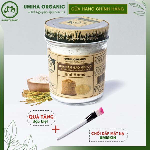 BỘT CÁM GẠO HỮU CƠ UMIHOME 125G nguyên chất làm đẹp thiên nhiên giúp tẩy da chết hiệu quả, dùng đắp mặt trắng da tự nhiên và ngăn ngừa thâm mụn giá rẻ