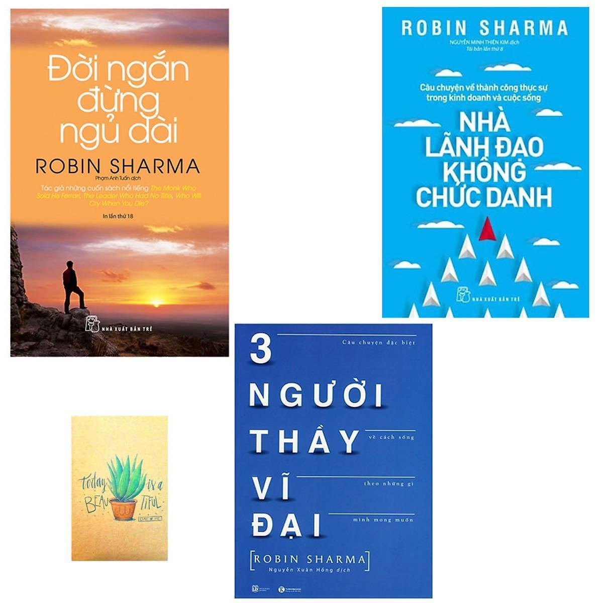 Combo 3 sách Đời Ngắn Đừng Ngủ Dài, Nhà Lãnh Đạo Không Chức Danh và Ba Người Thầy Vĩ Đại