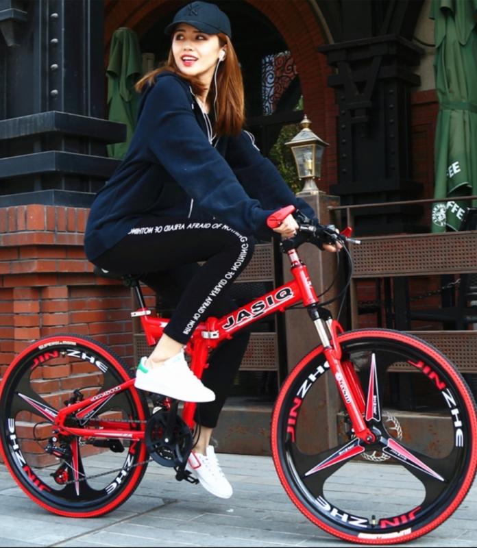 Mua Xe đạp gấp hợp kim nhôm, giảm xóc kép siêu nhẹ