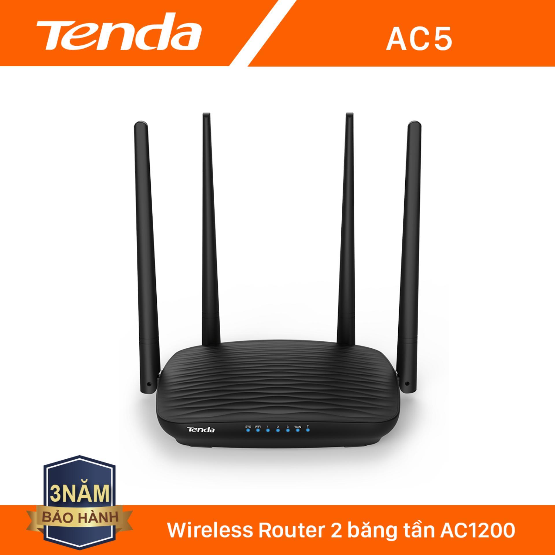 Giá Tenda Thiết bị phát Wifi AC5 Chuẩn AC 1200Mbps - Hãng phân phối chính thức
