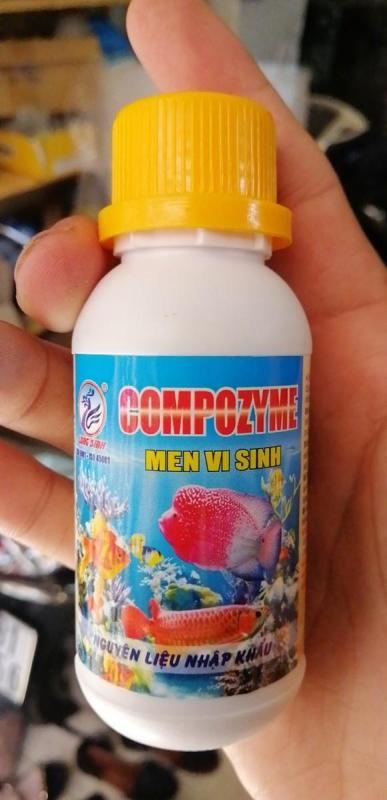Men vi sinh Compozyme Long Sinh phân hủy thức ăn thừa của cá cảnh