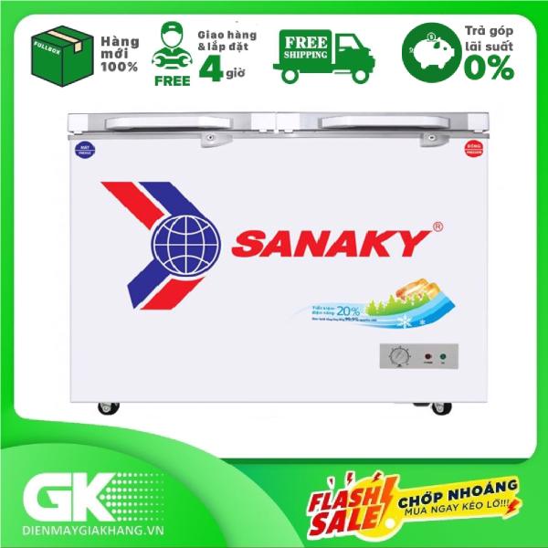 [Nhập ELAPR21 giảm 10% tối đa 200k đơn từ 99k]Tủ đông Sanaky VH-2599W2K - 2 ngăn 1 đông 1 mát 2 cánh mở195 LÍT
