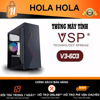 Thùng Máy Tính Case VSP V3-603 Tích hợp LED RGB (Chưa Bao Gồm Fan) (KHT) thumbnail
