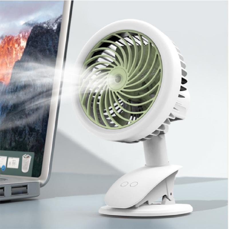 Quạt phun sương mini tích điện tiện lợi có kẹp để bàn như điều hòa mini, Quạt Phun Sương Hơi Nước Chạy trực tiếp bằng nguồn 5v (cổng USB, cục sạc điện thoại, pin dự phòng...) Thời gian sử dụng từ 2 đến 4 giờ tùy tốc độ quạt