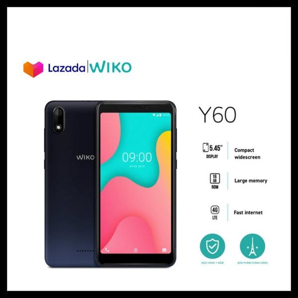 [Bảo Hành 1 Đổi 1] Điện thoại Wiko Y60 - Ram 1GB, Rom 16GB, Pin 2500 mAh, Màn hình 5.45, Camera sau 5.0 MP, Camera trước 5.0 MP - Hãng phân phối chính thức