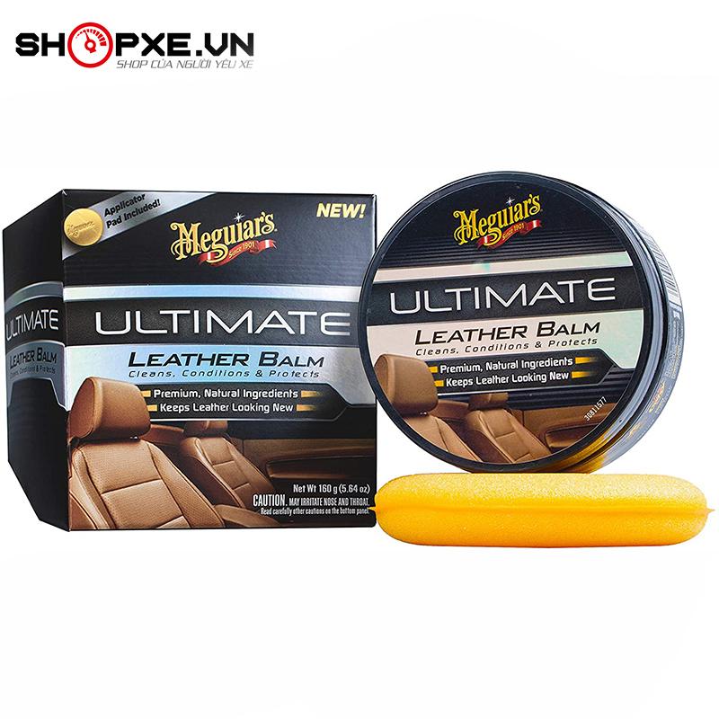 Sáp vệ sinh và dưỡng ghế da nội thất ô tô, xe hơi - Meguiars Ultimate Leather Balm - G18905, 180g