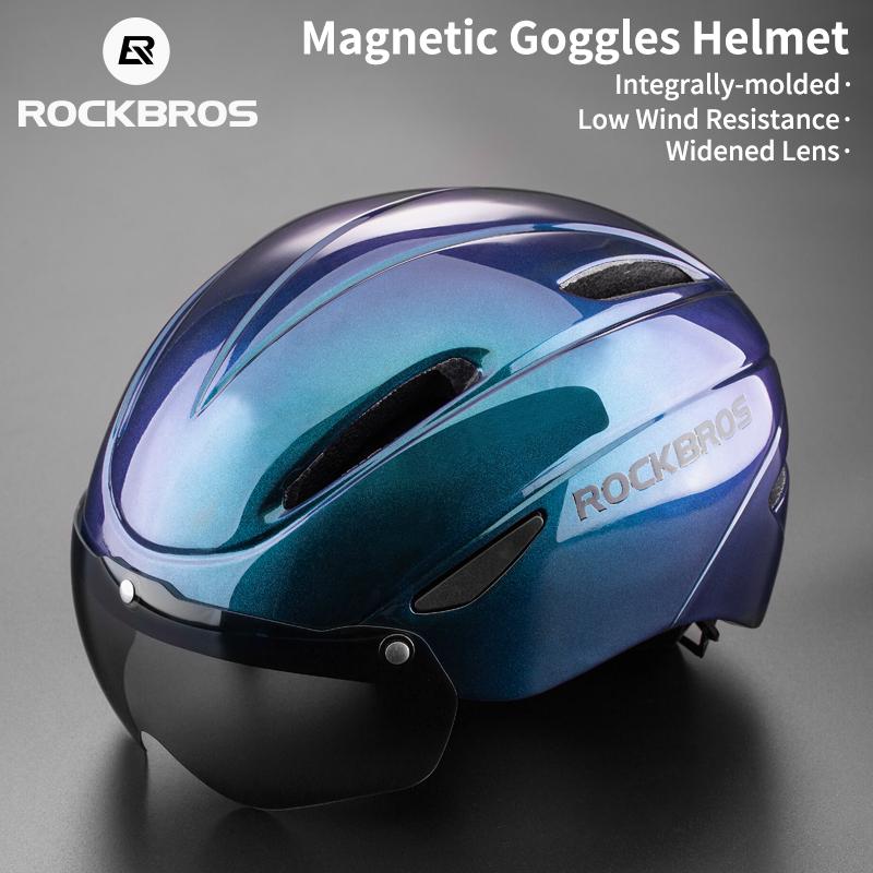 Mua ROCKBROS Mũ bảo hiểm xe đạp kính râm Mũ bảo hiểm đúc thời trang mũ bảo hiểm