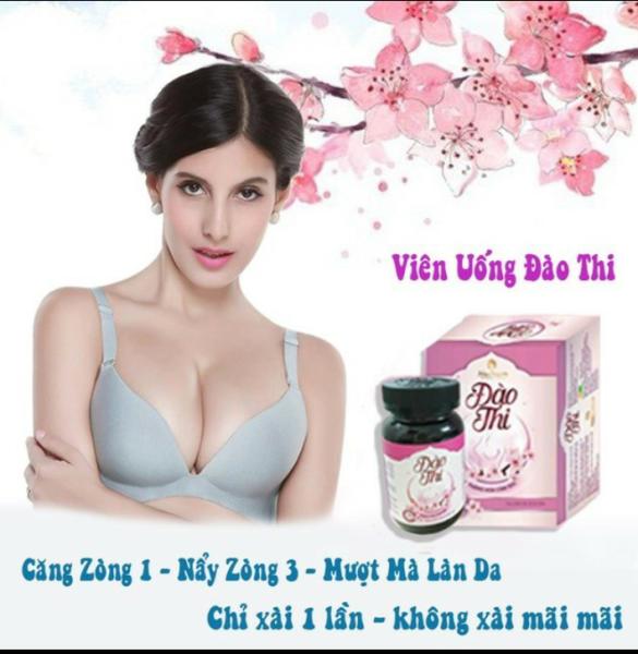Đào Thi - Viên Uống Nỡ Ngực Tăng Size Vòng 1 [Cam Kết Chính Hãng 100% ] giá rẻ